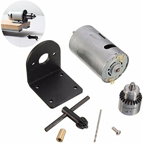 12 – 24 V torno prensa Motor con portabrocas para taladro y soporte de  montaje d45004d78991