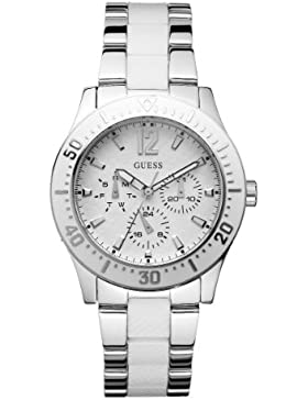 Guess Damen-Armbanduhr Analog Quarz Edelstahl W15067L2