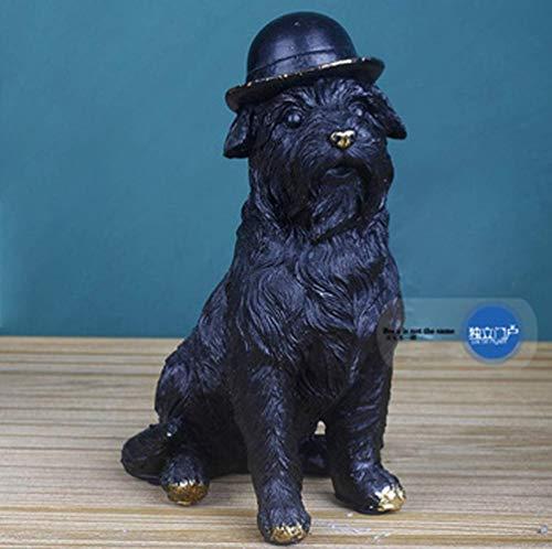 BAIF Englische Bulldoggen- / Terrier-Skulptur | Handgemacht und bemalt | Haustier-Porträt-Hundestatuen-Figürchen-Denkmal/Dekor-Garten-Statue / 5,7x2,8x5,5 Zoll, 4,3x2,75x6,1 Zoll Verzierung, Wo -