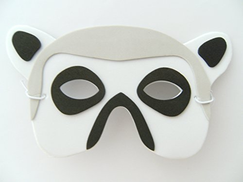 Maske Katta f. Kindergeburtstag Karneval Fasching Tier Tiere Masken Theater Zoo Affe Affen (Lemur Kostüm Kind)