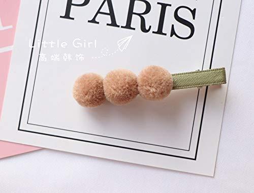 JWTS Südkoreas New Cute Ball Ball Clip für Herbst und Winter Kopfschmuck Candy Haarnadel für...