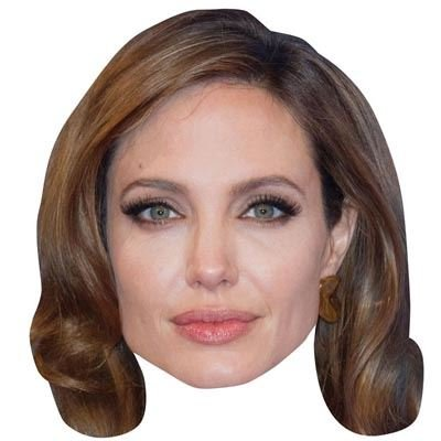 Celebrity Cutouts Angelina Jolie Maske aus Karton