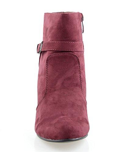 Eyekepper Chaussure fashion femme demoiselle - chaussures botte a talon pointu noir Violet