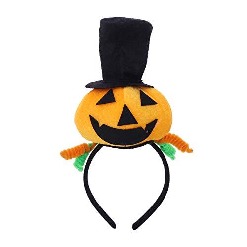 Fenical Halloween Kürbis mit Zylinder Stirnband für Masquerade Props Theme Party Supply