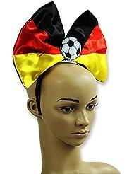 """16 x Haarreif """"Fußball"""" Deutschland Schleife Fanartikel WM EM"""