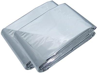 CE Sporting Goods - Manta térmica para emergencias (2 unidades, 1,6 x 2,1 m)