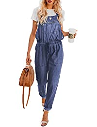 59e1d04880d DOKOTOO Womens Denim Cotton Dungarees Long Drawstring Strappy Jumpsuits  Playsuits