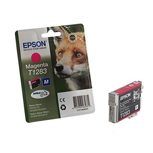 Epson-magenta-inkjet-drucker Patrone (Epson Original T1283 Fuchs, wisch- und wasserfeste Tinte (Singlepack) magenta)