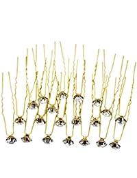 Evogirl Bobby Pins Diamond Wedding Hair Pins Wedding Bridal Salon Accessories Fancy Crystal Dimond Rhinestone...