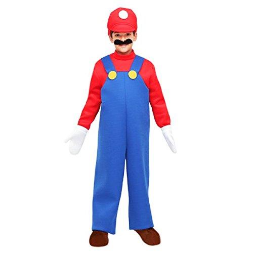 Vestito costume maschera di carnevale bambino - mario bros - taglia 6/7 anni - 107 cm