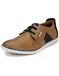 Peponi Men's Faux Leather Khakee Stylish Sports Men's Faux Leather Casual Shoes