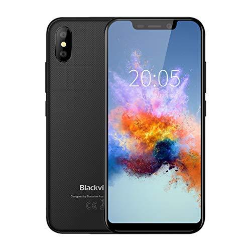 """Blackview A30 Smartphone Libre Android 8.1 5.5"""" HD Quda-core Teléfono Móvil MTK6580A 1.3Ghz 2GB RAM + 16GB ROM Cámara 5MP 8MP Batería 2500mAh Desbloqueo Facial - Negro"""