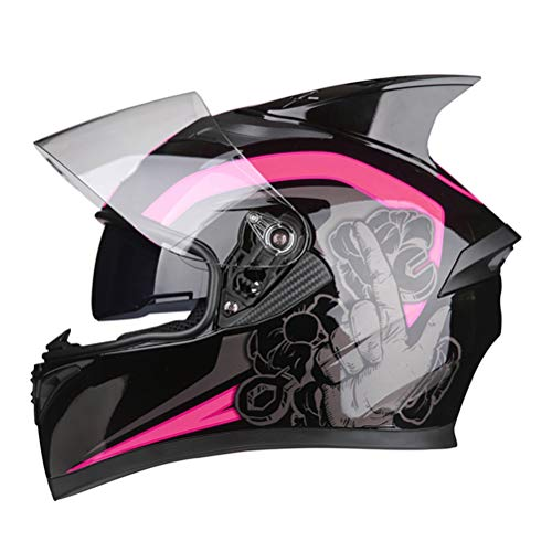 Uomini donne pieno viso moto casco doppia lente anti nebbia Suanproof Racing tappi di protezione professionale flip up caschi motocross
