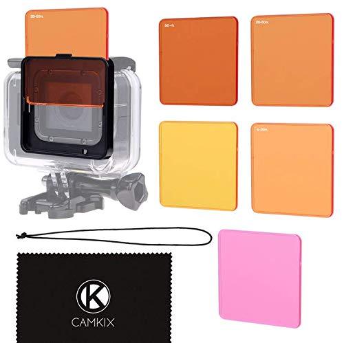 CAMKIX Objektivfilter-Set zum Tauchen kompatibel mit GoPro Hero 6/5 - Optimiert die Farben unter Wasser - Leuchtende Farben, verbesserte Kontraste, Nachtsicht (Super Suit)
