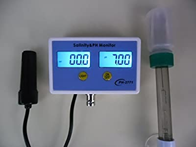 Testeur de ph ph Mètre Testeur Sel Sali NITY Aquarium salinité Digital Neuf