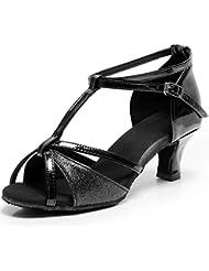 TRIWORIAE - Donna Scarpe da Ballo Latino/Sala da Ballo/Standard Tacco 5cm/7cm Nero (Tacco-5cm) 38 EU