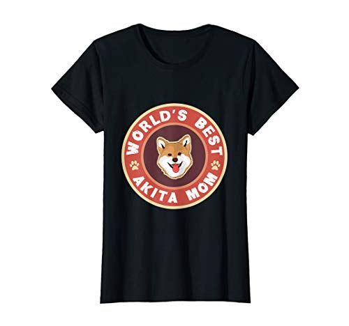 Akita-damen T-shirt (Damen Akita Inu Mama Frauchen Tshirt)