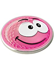 PINK SMILEY SMILE GOLF BALL MARKER. BY ASBRI GOLF