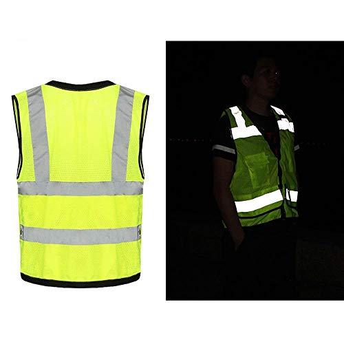JMTLLFGBX Gilet Ad Alta visibilità, Gilet Riflettente in Maglia Traspirante Estivo in Maglia Traspirante Multiuso (Colore : Fluorescent Orange)
