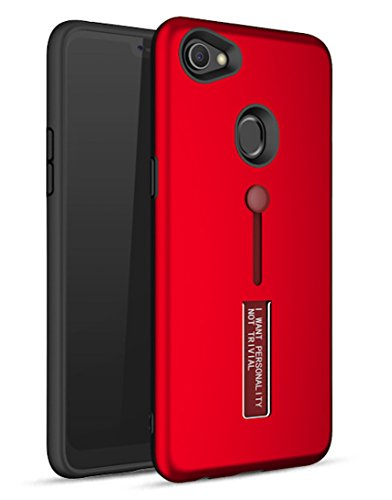 Bounceback Oppo F7 Cover Case 3 in1 360º Anti Slip Super Slim Back Cover for Oppo F7 (Matte Red)