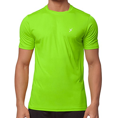 CFLEX Men Sportswear Collection - Herren Funktion Sport Kleidung - Fitness Quickdry Shirt & Hemd Electric Green Größe XL