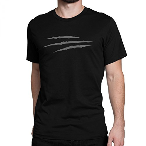 vanVerden Unisex T-Shirt XS-5XL Wolverine Messer Schnitt / Logan, Color:Grau, Größe:3XL (Logan Messer)