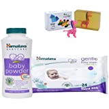 Himalaya Herbals Baby Powder (50g)+Himalaya Herbals Gentle Baby Wipes (24 Sheets) With Happy Baby Luxurious Kids Soap With Toy (100gm)