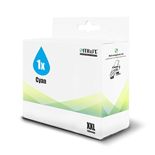 1x MWT Druckerpatrone für HP Business InkJet 3000 N DTN ersetzt 12 NO12 Cyan - 12 Cyan Inkjet