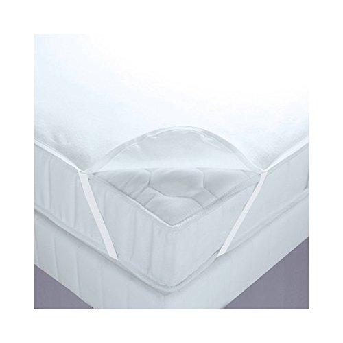 Alpes Blanc Protège Matelas Imperméable Molleton Coton 200g/m² 140x190 Plateau