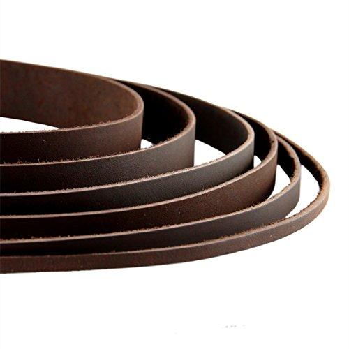 AURORIS – Lederband flach dunkelbraun Breite wählbar 2/3/4/5/8/10/15/20/25/30 mm