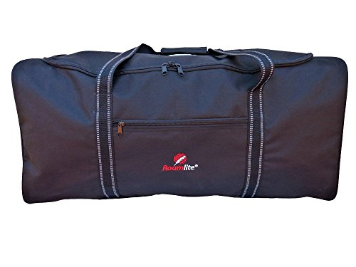 XL Large Extra Very Big Holdalls - Luggage Size Travel Holdall - 110 Litre Black Luggage Duffle Bag - 1 Huge Space - Folds Flat for Storage, Travel or Laundry - 86cm X 36 X 36 0.9kg - R34