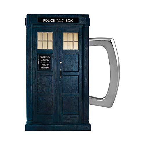 Vandor 56414 Doctor Who S11 Tardis 56414 Tasse aus Keramik, Blau/silberfarben