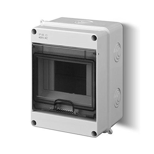 Aufputz Sicherungskasten Feuchtraum IP55 Unterverteilung 1 reihig für 5 Automaten -