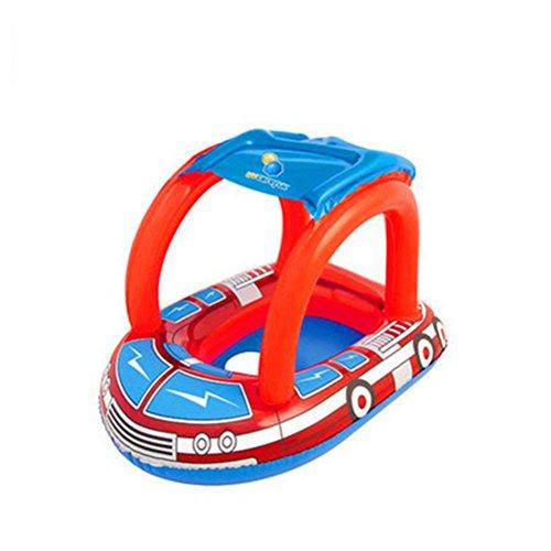 TOYMYTOY Kinder Baby Aufblasbare Kinderboot Schwimmsitz Schwimmring mit Sonnenschutz
