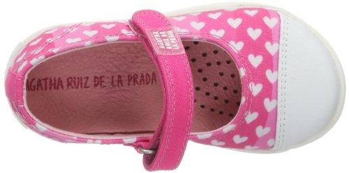 Agatha Ruiz de la Prada 142926, Espadrilles fille Rose - Pink (Fucsia y estampado)
