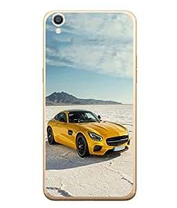 Fuson Designer Back Case Cover for OppoR9 (Driving Fast Racing Wheels Luxury car)