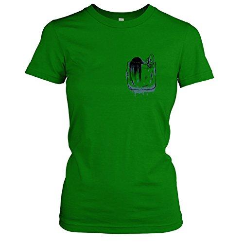 TEXLAB - Brusttasche Ring - Damen T-Shirt Grün
