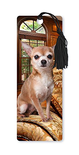 dimension-9-3d-lenticular-bookmark-with-tassel-chihuahua-pet-breed-series-lbm057