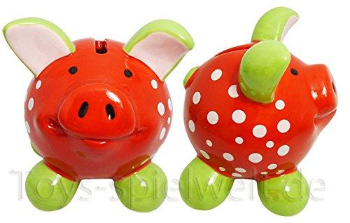 Swiggie Sparschwein Glücksschwein Tupfen Viel Glück Spardose 8,5cm 13cm 15,5cm: Größe: 08,5 cm
