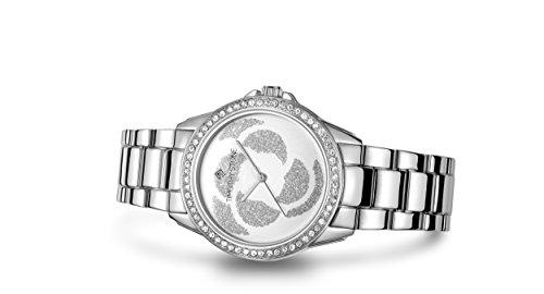 Timothy Stone Damen K-013-ALSL Katy Silber Uhr - Swarovski Kristall verschönert Lünette Quarzwerk - Kors Michael Coach