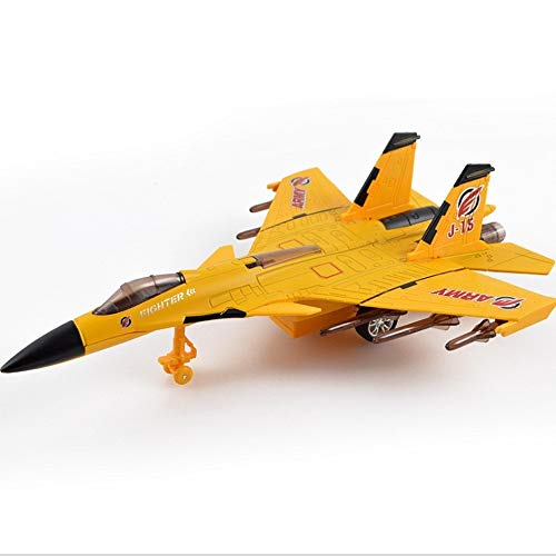 Metall Kampfjets Modell zurückziehen Autos LKW Flugzeuge leichte Musik Teig enthalten für Kinder Kleinkind Jungen Party Favors Pullback Flugzeug Geschenk (Kampfflugzeug J-15 Raptor ()