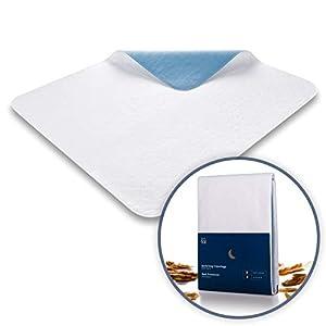 Blumtal Matratzenauflage, wasserdicht und waschbar – Saugvlies, 75x90cm, Inkontinenzauflage, 1er & 2er Set