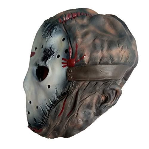 VAWAA Jason Freddy Latex Overhead Maske Erwachsene Kostüm Freitag Die 13. Killer Sendemaske Scary Horror (Jason Kostüm Für Erwachsene)