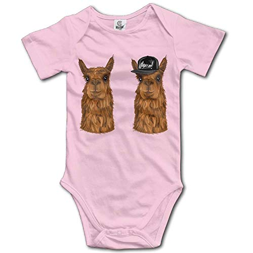 Climbing Clothes Set Alpacas Bodysuits Romper Short Sleeved Light Onesies for 0-24 Months,12M ()