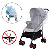 Universal Insektenschutz Kinderwagen Mückennetz für Kinderwagen Buggy Babywanne Babywiegen Babyschalen Sportwagen Jogger Moskitonetz Insektennetz Fliegennetz Stechmücken