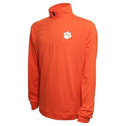 1/4Zip Pullover, herren, 1/4 Zip Pullover, Orange (Heather Orange), Large