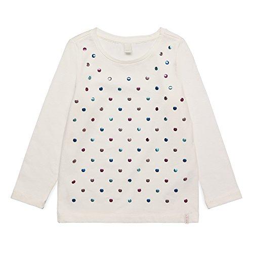 ESPRIT Mädchen Langarmshirt RK10223, Weiß (Off White 110), 128 (Herstellergröße: 128+)