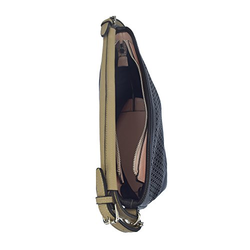 U.S.POLO ASSN. Borsa a mano con tracolla 24-36x13x30 cm Nero - Fango