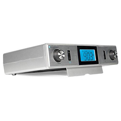 Blaupunkt KR 10 Küchenradio-Unterbau mit UKW/FM PLL Empfang | Back-Timer, Koch-Timer, Eier-Uhr| LCD-Display | digitale Uhr und Stereo-Lautsprecher | inklusive Montagematerial