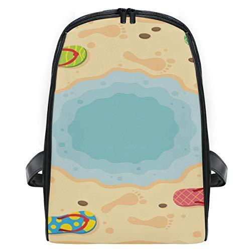 CVDGSAD Rucksack Slipper Foot Print Bookbag Student Umhängetaschen Bookbags für Mädchen Travel Boys Kid -